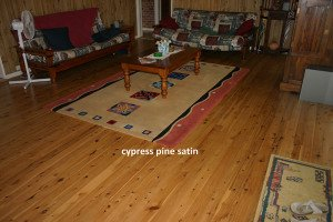 cypress pine satin floor