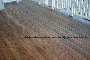 mixed hardwood coated with flood