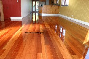 mixed red estapol gloss floor