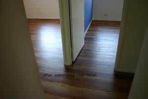 matte finish wooden floor