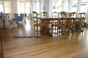 Satin finish wooden floor