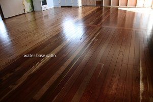 water base satin wooden floor
