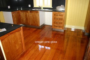 oregan pine gloss floor