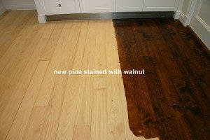 new pine stained with walnut floor