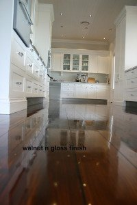 walnut and gloss finish floor