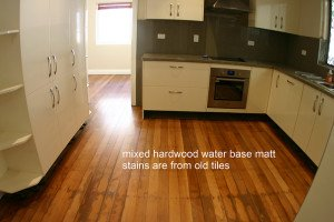 old mixed hardwood tiles