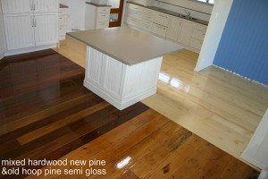 mixed hardwood new and old semi gloss