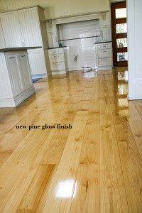 new pine gloss finish floor