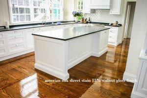 american oak direct stain 15% walnut gloss finish