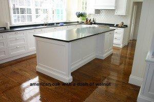 american oak with a dash of walnut floor
