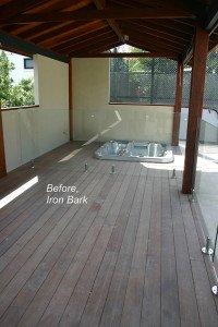 unpolished outdoor wooden floor