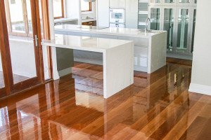 gloss finish wooden floor
