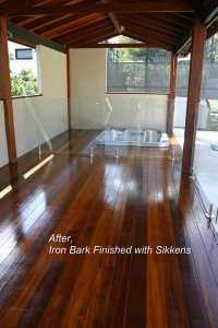iron bark finished with sikkens floor