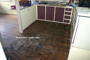 brush box under tiles