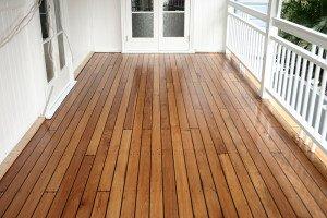 polished outdoor wooden floor