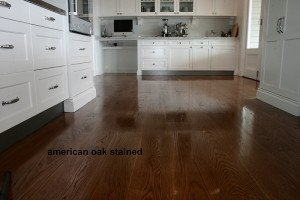 american oak stained floor
