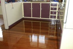 gloss finished wooden floor