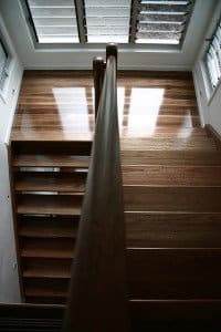 wooden floor and stairs