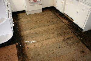 old hoop pine floor