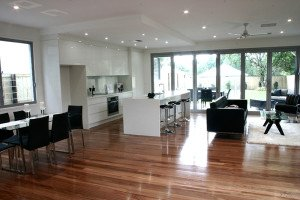 semi gloss wooden floor