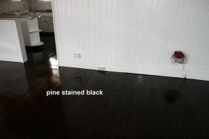 pine stained black floor