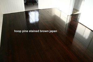 hoop pine stained brown japan floor