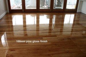 pine gloss finish
