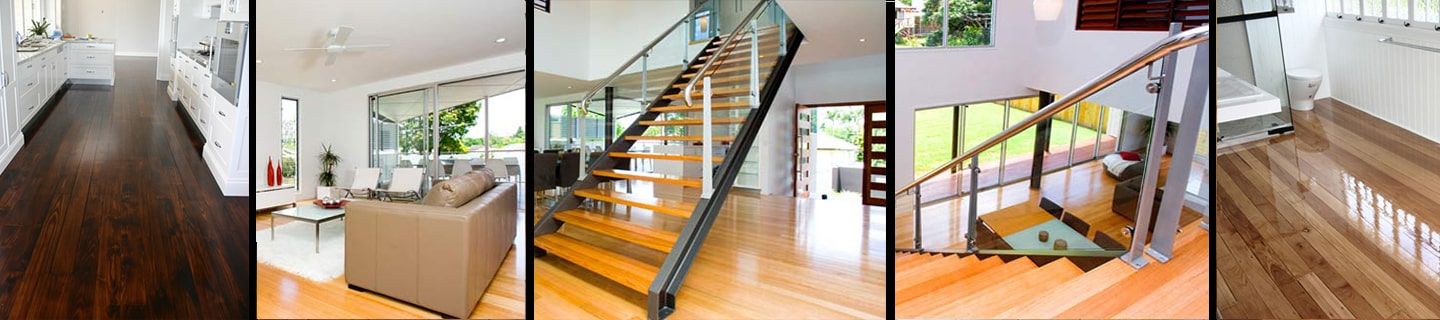 wooden floors and stairs