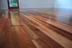semi gloss finished floor