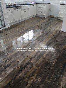 polished Hoop pine floor