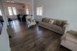 Grey wash wooden flooring