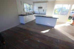 unpolished wooden floor