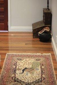 semi gloss wooden floor