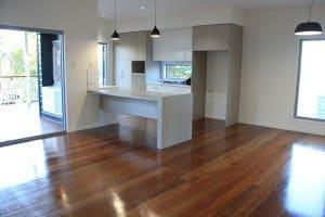 semi gloss finish wooden floor