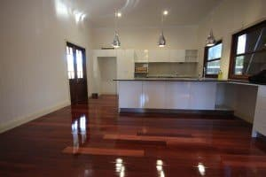 polished wooden flooring