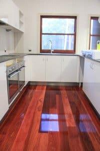 gloss finish wooden floor