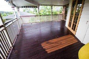 kwila timber floor with old walnut stain
