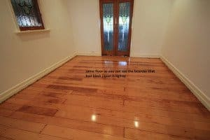 stained wooden floor
