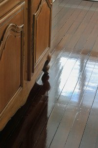 gloss wooden floor