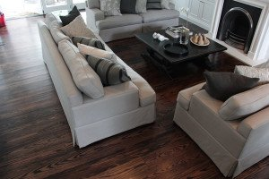 american oak stained walnut and black floor