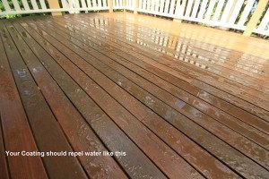 sikkens deck finish repel water