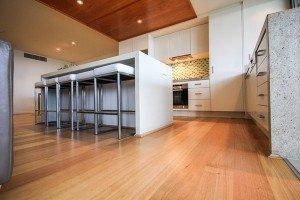 Wooden flooring in the kitchen
