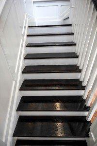 dark wooden floor stairs