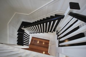 black wooden steps and staircase