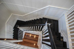 Dark wooden floor staircase