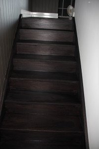 dark wooden stairs