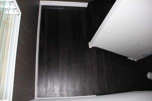 dark wooden floor and stairs