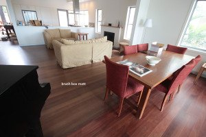 brush box matte wooden floor