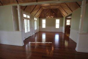 220mm wide iron bark semi gloss floor