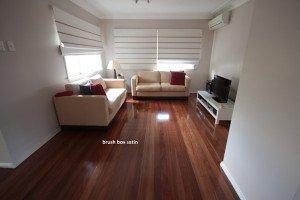 brush box satin wooden floor